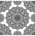 filigree pattern of mandalas vector image