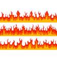flame borders fire blazing banner heat burn vector image