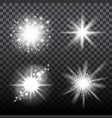 flash stars set on transparent background vector image vector image