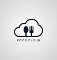 food cloud fork spoon theme vector image