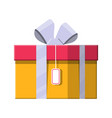 gift box on white vector image vector image