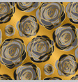 gold rose decorative flowers seamless pattern vector image vector image