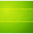 Green wave horizontal ornamental background vector image vector image