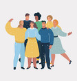 group happy talking friends vector image vector image