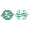 grunge stamp and silver label sulfate free vector image vector image