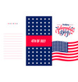 happy independence day usa hand radwn lettering vector image