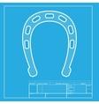 Horseshoe sign White section of icon vector image
