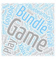 How to Get a Game Bundle Cheaply text background vector image vector image