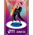 Jazz Festival Cartoon Poster vector image vector image