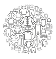 line icons children clothing vector image vector image