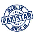 made in pakistan blue grunge round stamp vector image vector image