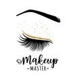 makeup master logo vector image vector image
