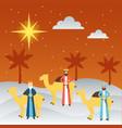 manger epiphany christmas vector image vector image