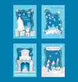 merry christmas paper cut with pine and presents vector image vector image