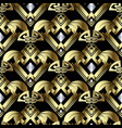 modern abstract gold 3d seamless pattern vintage vector image vector image
