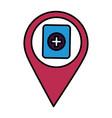 navigation pointer battery vector image