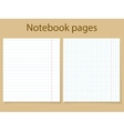Notebook pages template vector image vector image