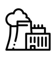 nuclear power plant icon outline vector image vector image