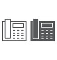 office phone line and glyph icon office vector image vector image