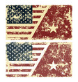 old scratched flags of usa vector image vector image