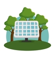 panel solar isolated icon vector image vector image