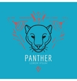 Panther head logo in frame vector image vector image