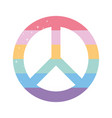 peace symbol with lgbtq pride colors vector image vector image
