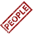 People rubber stamp vector image