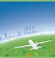 philadelphia skyline flight destination vector image vector image
