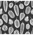 pine cones hand drawn seamless pattern botanical vector image