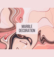 pinky coral gradient moving decoration liquid vector image vector image