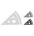 pizza piece mesh network model and triangle vector image vector image