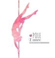 pole dance vector image vector image