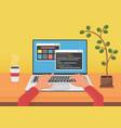 programming coding web development concept vector image vector image