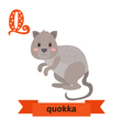 Quokka Q letter Cute children animal alphabet in vector image vector image