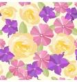 Seamless garden flowers background vector image vector image