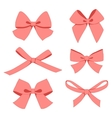 Set of vintage bows vector image vector image
