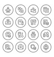 set round line icons services vector image vector image