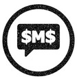 sms bubble rounded icon rubber stamp vector image