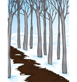 snow covered woodland vector image