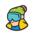 snowboarding girl sign vector image