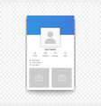 social network mobile app profile template on the vector image vector image