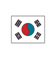 south korea flag icon cartoon style vector image