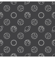 Space planets seamless pattern vector image
