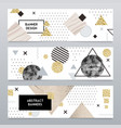 stone texture realistic banners set vector image vector image