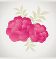 stylized vintage retro flower and leaves natural vector image vector image