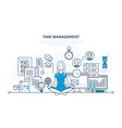 Time management workflow organization vector image