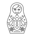 traditional nesting doll icon outline style vector image vector image