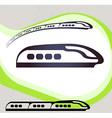 Train Retro-style emblem icon pictogram EPS 10 vector image vector image