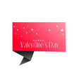 valentines day origami chat bubble and hearts vector image vector image